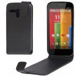 Vertical Flip Leather Case for Motorola Moto G / XT937C / XT1028(Black)