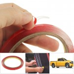 10 PCS Universal 3M Car Transparent Double Sided Adhesive Tape, Width: 6mm(Red)
