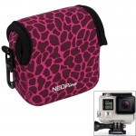 GN-5 Leopard Texture GoPro Accessories Waterproof Housing Neoprene Inner Protective Bag Camera Pouch for GoPro Hero4 /3+ /3(Mage