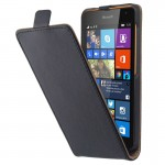 Vertical Flip Magnetic Button Leather Case for Microsoft Lumia 535