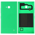 Solid Color Plastic Battery Replacement Back Cover for Nokia Lumia 730(Green)
