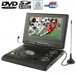 7.5 inch TFT LCD Screen Portable DVD with TV Player, Support SD / MMC Card / Game Function / USB Port(Black)