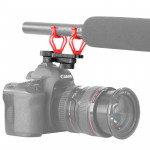BOYA BY-C30 Camera Microphone Shock Mount Holder Clip with Hot Shoe(Red)
