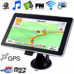 7.0 inch TFT Touch-screen Car GPS Navigator, Built in 4GB Memory, Support AV In Port, Touch Pen, Voice Broadcast, FM Transmitter