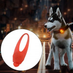 LED Night Light Pet Safety Collar Silicone Pendant (Red)