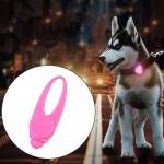 LED Night Light Pet Safety Collar Silicone Pendant (Pink)