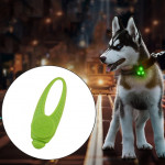 LED Night Light Pet Safety Collar Silicone Pendant (Green)