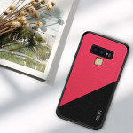 Housse Coque Antichoc TPU + PC + Chiffon pour Galaxy Note 9 Rose Rouge - Wewoo