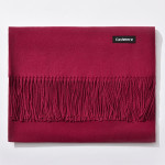 Autumn and Winter Season Classic Solid Color Imitation Cashmere Scarf, Size: 60 * 200cm(Light Wind Red)