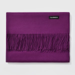 Autumn and Winter Season Classic Solid Color Imitation Cashmere Scarf, Size: 60 * 200cm(Purple)