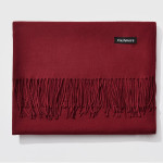 Autumn and Winter Season Classic Solid Color Imitation Cashmere Scarf, Size: 60 * 200cm(Wind Red)