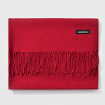 Autumn and Winter Season Classic Solid Color Imitation Cashmere Scarf, Size: 60 * 200cm(Dark Red)