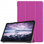 Custer Texture Horizontal Flip PU Leather Case for Galaxy Tab A 10.5 / T595 & T590, with Three-folding Holder & Sleep / Wake-up