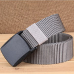 YKK 3.8cm Wide Outdoor Riding Hiking Sports Casual Style Multifunctional Nylon Waist Belt (Grey)