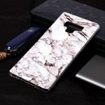 Marble Pattern Soft TPU Case For Galaxy Note9(White)
