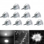 10 PCS 6W Recessed Stair Underground Lamp, SMD 2835 500-600LM 2800-3200K Deck Light Buried Lamps LED Floor Light Wall Spotlight,
