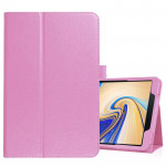 Litchi Texture Horizontal Flip Leather Case for Samsung Galaxy Tab S4 10.5 T830 / T835, with Holder (Pink)