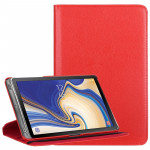 Litchi Texture Horizontal Flip 360 Degrees Rotation Leather Case for Galaxy Tab S4 10.5, with Holder (Red)