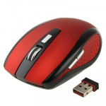 2.4 GHz 800~1600 DPI Wireless 6D Optical Mouse with USB Mini Receiver, Plug and Play, Working Distance up to 10 Meters (Red)