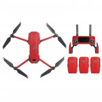 Sunnylife Carbon Fiber Waterproof All-surround 3D PVC Sticker Kit for DJI Mavic 2 Pro / Zoom Drone Quadcopter (Red)