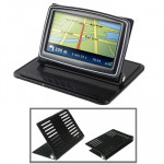 Universal GPS Holder Bracket Cradle Anti-Slip Mat (For 4.3 / 5.0 inch GPS, iPhone 4 / 3GS / 3G, MP4)(Black)