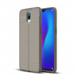 Litchi Texture TPU Shockproof Case for OPPO R17 (Grey)