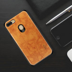 MOFI PC+TPU+PU Leather Protective Back Case for OPPO F9 (F9 Pro) (Light Brown)