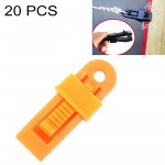20 PCS Outdoor Tent Awnings Windproof Fixing Clip Multifunctional Wind Rope Buckle (Orange)