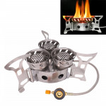 Portable Outdoor Split Type 11000W Backpack Three Core Furnace Anti-Blast Stove Cooking Tools