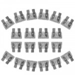 100 PCS Auto Mini Blade Fuse, DC12V 25A(Transparent)