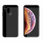 ENKAY Hat-Prince PET Full Screen 3D Curved Heat Bending HD Front + Back Screen Protector for iPhone XS Max (Transparent)