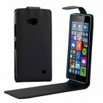 Vertical Flip Magnetic Button Leather Case for Microsoft Lumia 640