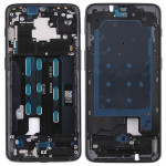 Front Housing LCD Frame Bezel with Side Key for OnePlus 6T(Black)