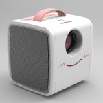 W-S1 10W Children Video Projector 30 Lumens HD 1080P LCD Technology, Support AV / USB / Mini SD Card / HDMI / Audio (Pink)