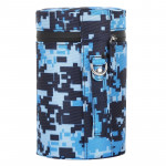 Camouflage Color Large Lens Case Zippered Cloth Pouch Box for DSLR Camera Lens, Size: 16x10x10cm (Blue)