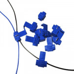 100 PCS Cable Clip, Adapt to Line Diameter: 0.8-2.0mm (Blue)