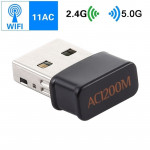 AC1200Mbps 2.4GHz & 5GHz Dual Band USB 2.0 WiFi Adapter External Network Card (Black)