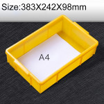 Thick Multi-function Material Box Brand New Flat Plastic Parts Box Tool Box, Size: 383mm X 242mm X 98mm(Yellow)