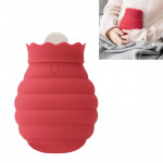 Original Xiaomi Warm Water Bag Silicone Hot Water Bag Small Size:15x10x5.8cm (Red)