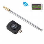 Micro USB DVB-T TV Digital Mobile Tuner Stick Receiver Dongle for Android Phone(Black)