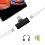 Type-C to Type-Cx2 Charging & Listening Converter, For Galaxy, HTC, Google, LG, Sony, Huawei, Xiaomi, Lenovo and Other Android P