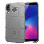 Shockproof Protector Cover Full Coverage Silicone Case for Samsung Galaxy A6s (Grey)
