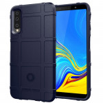 Shockproof Protector Cover Full Coverage Silicone Case for Galaxy A7 2018 (Dark Blue)
