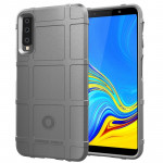 Shockproof Protector Cover Full Coverage Silicone Case for Galaxy A7 2018 (Grey)
