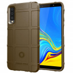 Shockproof Protector Cover Full Coverage Silicone Case for Galaxy A7 2018 (Brown)