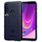Shockproof Protector Cover Full Coverage Silicone Case for Galaxy A9 (2018) (Dark Blue)