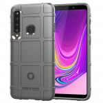 Shockproof Protector Cover Full Coverage Silicone Case for Galaxy A9 (2018) (Grey)