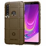 Shockproof Protector Cover Full Coverage Silicone Case for Galaxy A9 (2018) (Brown)