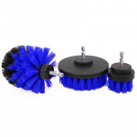 3 PCS Bathroom Kitchen Cleaning Brushes Kit for Electric Drill (Blue)