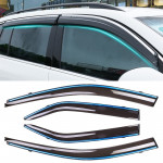 4 PCS Window Sunny Rain Visors Awnings Sunny Rain Guard for Toyota Camry 2012-2017 Version Seventh Generation